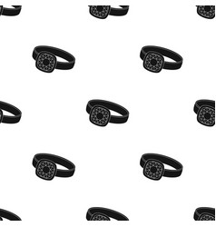 Silver ring icon in black style isolated on white vector