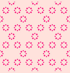 simple abstract seamless pattern with flowers vector image