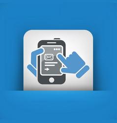Smartphone icon send mail vector