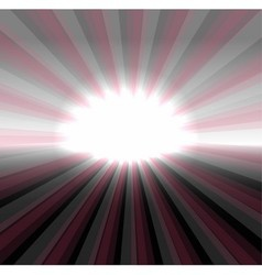 Sun on dark background vector