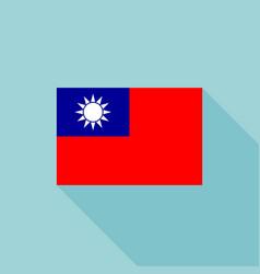Taiwan flag vector
