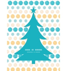 texture circles stripes abstract Christmas tree vector image