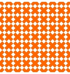 Tile orange and white x cross pattern vector