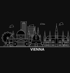 Vienna silhouette skyline austria - vienna vector