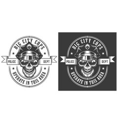 Vintage monochrome police officer logo vector