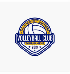 Volleyball club badge logo-8 vector