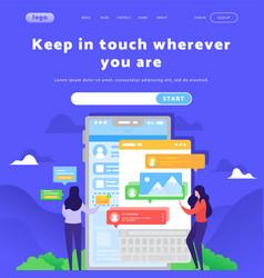 Web site design template social media vector