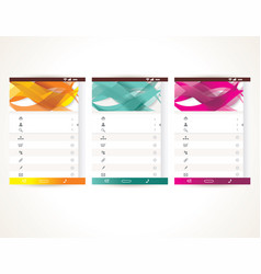 Web user interface elements menu mobile apps vector