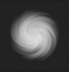 white swirl cloud template for your design vector image