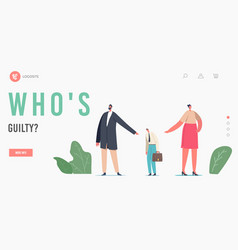 Who is guilty landing page template scapegoat vector