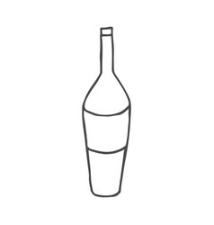 wine doodle icon isolated on vector image