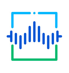 wireless sensor voice control icon vector image