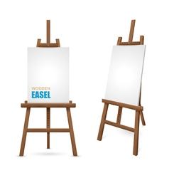Wooden Artist Easel vector