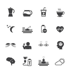 benefit of coffee flat design icons set for vector image vector image