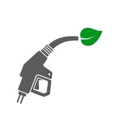 Bio Fuel Concept Icon Gas Station Gun with Green vector image