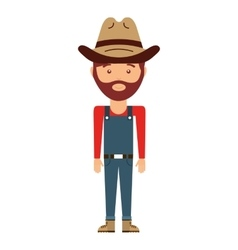 cowboy avatar isolated icon design vector image