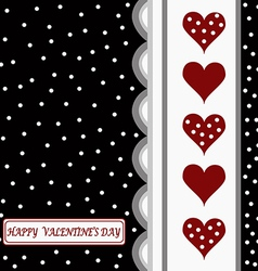 Happy valentines day card1 vector image