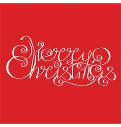 Merry Christmas calligraphic Lettering design card vector image
