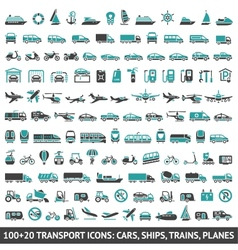 100 AND 20 Transport icon vector image