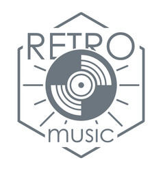 retro music logo simple style vector image vector image
