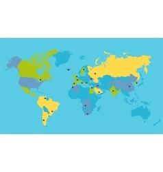 World political map vector