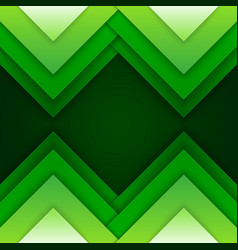 Abstract green triangle shapes background vector image vector image