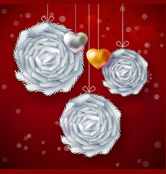 christmas paper art card vector image