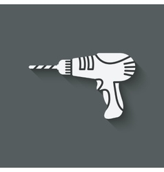 drill screwdriver symbol vector image vector image