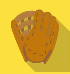 glove trap baseball single icon in flat style vector image vector image