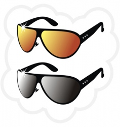 pair of mirrors sun glasses vector image