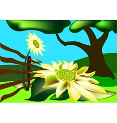 Picturesque scenery vector image vector image