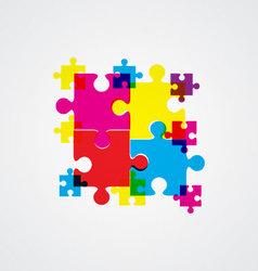 puzzle concept design vector image
