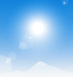 sun over the mountains vector image