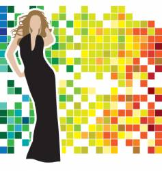 woman posing vector image vector image