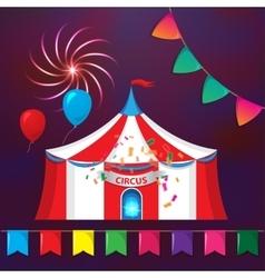 Big Top Circus Tents with decorative elements vector image