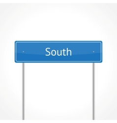 Blue south traffic sign vector image vector image
