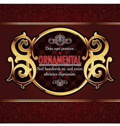 decorative ornamental background vector image vector image