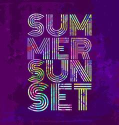 Endless Summer - Artwork for wear in custom colors vector image
