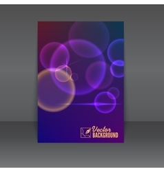 Flyer or poster design template vector image vector image