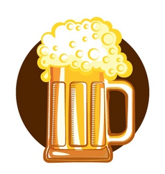 glass of beervector color symbol of illustration f vector image vector image