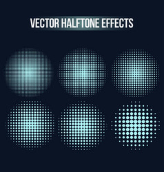halftone effects set vector image vector image