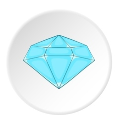 Polished diamond icon cartoon style vector image vector image
