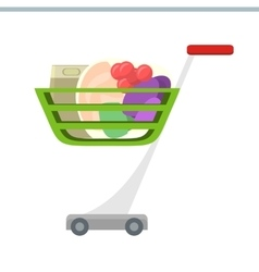 Shopping Cart in Flat Design vector image vector image