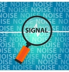 signal to noise ratio find right information above vector image
