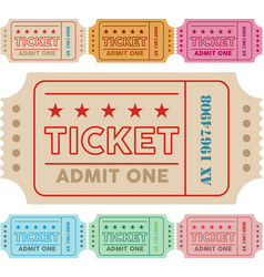 vintage ticket with colors vector image
