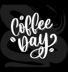 1 october international coffee day logo world vector
