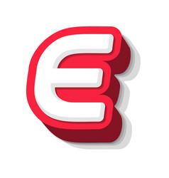 3d bold funny letter e heavy type for modern vector