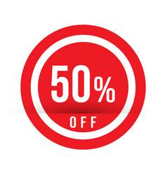 50 percent off - red sale stamp - special offer vector