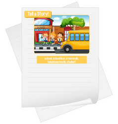 A picture narrative worksheet vector