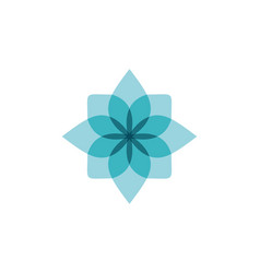 Abstract blue flower logo designs inspiration vector